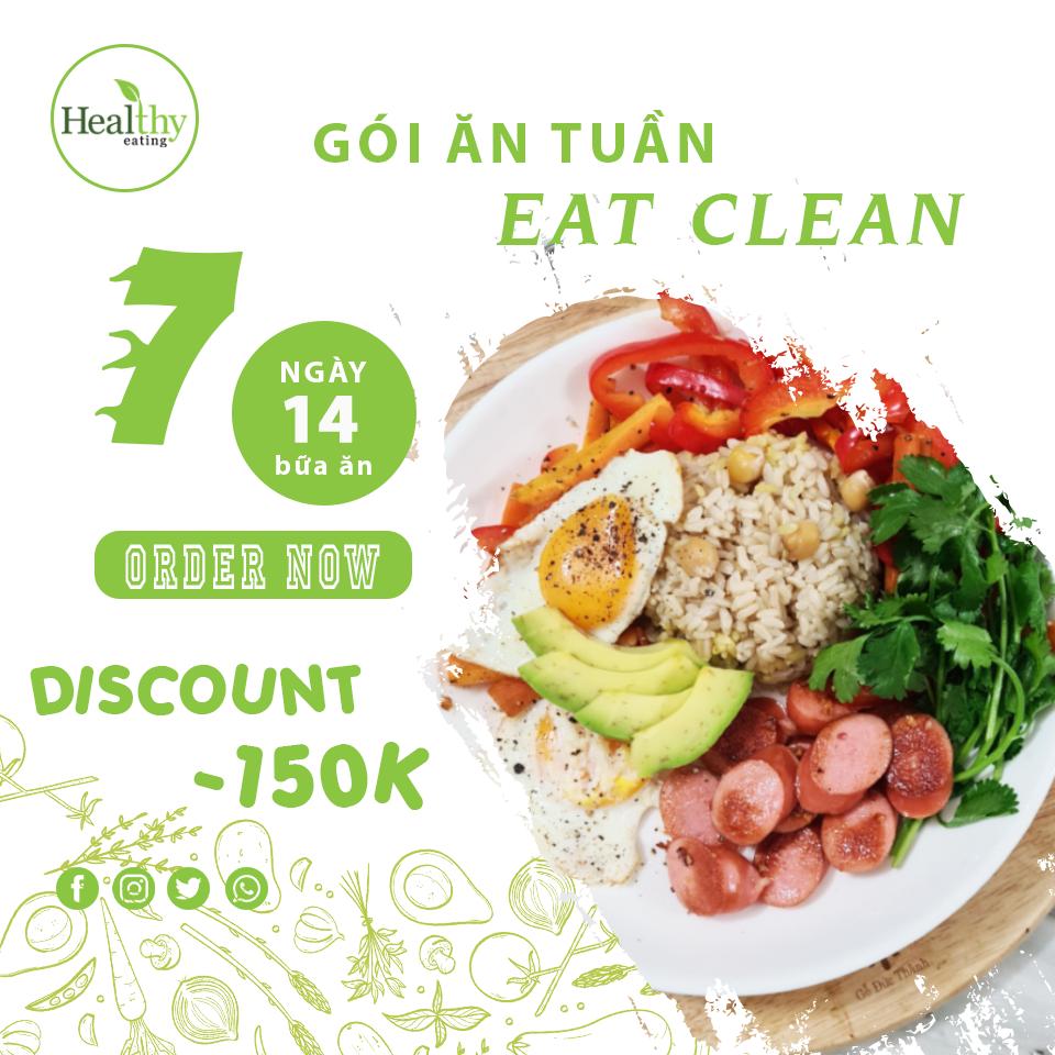CHẾ ĐỘ ĂN EAT CLEAN 14 BỮA